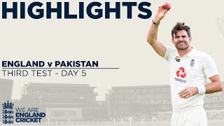 Day 5 Highlights | James Anderson Makes Fast Bowler History | England v Pakistan 3rd Test 2020