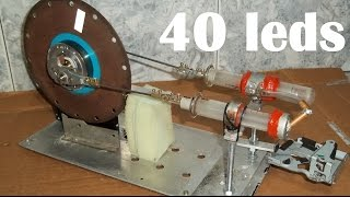 Motor Stirling Alfa 1500 RPM Caseiro (2) - Homemade Stirling Engine Alpha