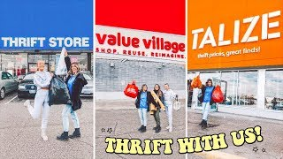 3 THRIFT STORES IN 30 MINUTES ☆ insane thrift with us + thrift haul!