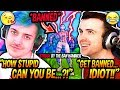 """Ninja & DrLupo FREAK OUT After A STREAM SNIPER Gets """"Struck By The Ban Hammer"""" LIVE INGAME! (BANNED)"""