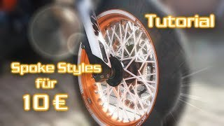 10 Euro Spoke Styles montieren | SMC R 690 | Pimp my Bike | Tutorial