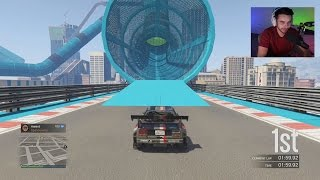 MY FIRST EVER GTA V STUNT RACES! Ft. BigTymer