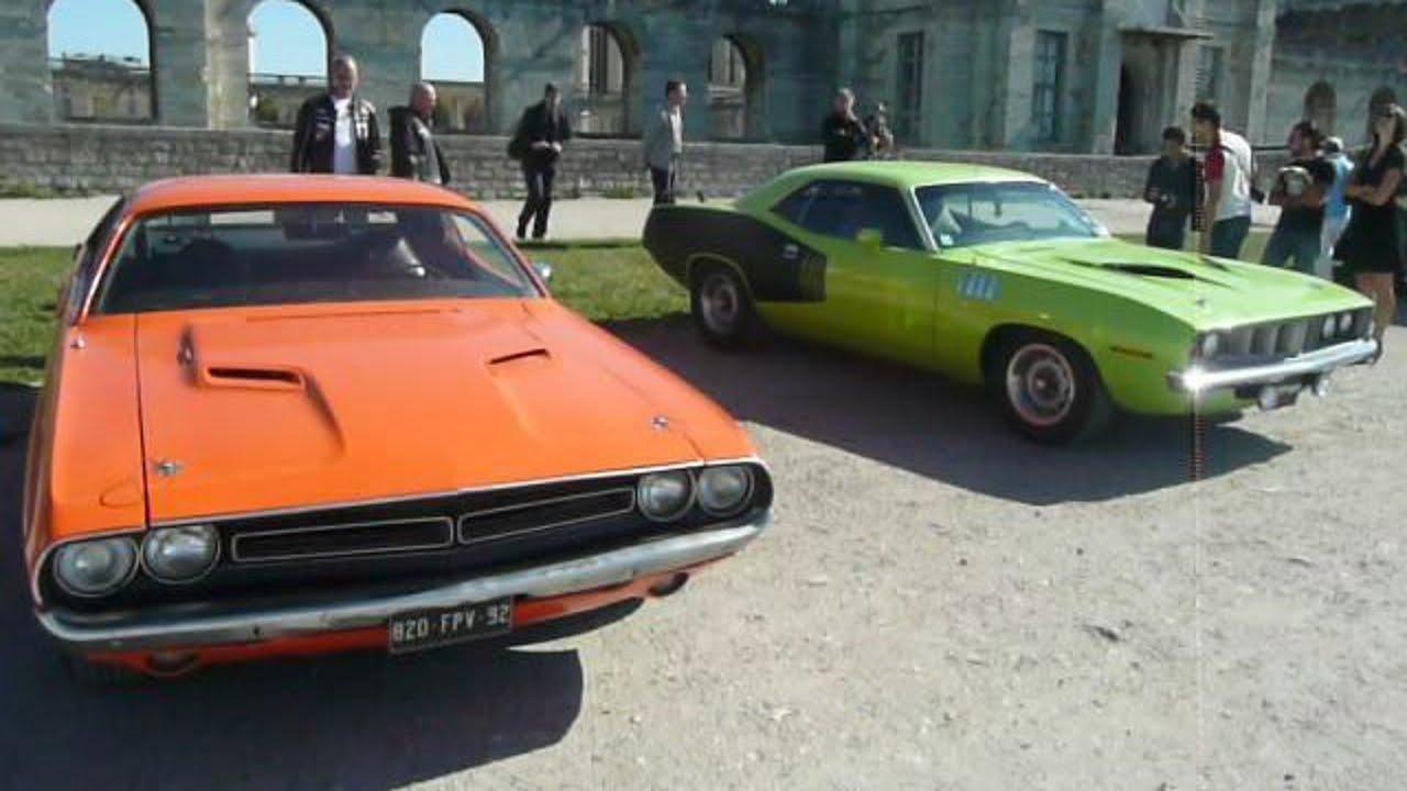 Dodge Challenger Conversion >> 1971 Dodge Challenger R/T & Plymouth `Cuda - YouTube
