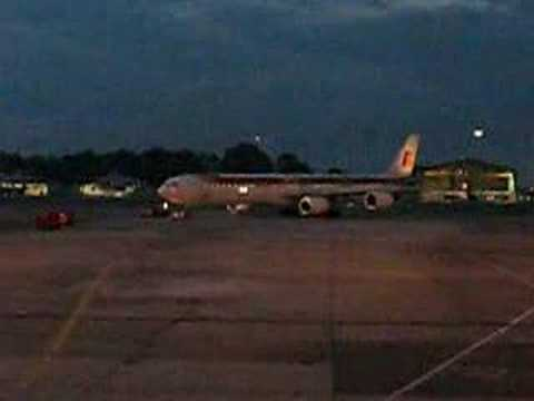 Iberia's A346 pushing back at Bogota Aiport
