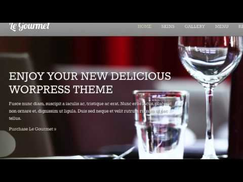 Le Gourmet Premium Restaurant WordPress Theme + Download