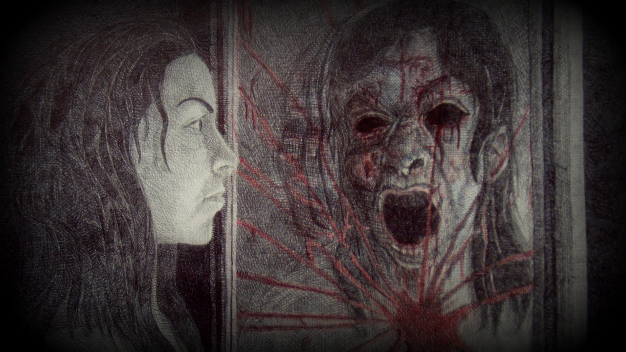 BLOODY MARY: URBAN LEGEND - Drawing with Ballpoint Pen - YouTube