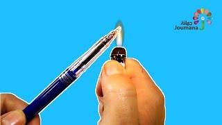جمانة | 5 استخدامات رائعة بالقلم الجاف |  AWESOME life hacks with pens