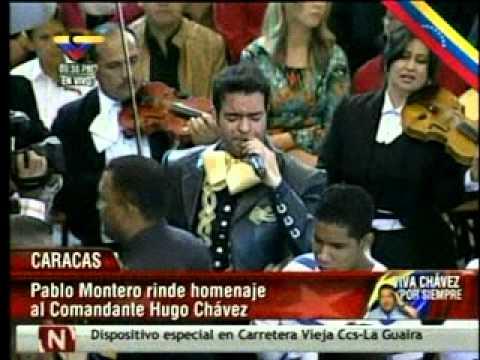 Pablo Montero le cant ó a Chávez