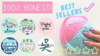 100% HONEST Best Sellers Review! Famous Slime Shops' Best Sellers!
