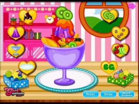 Game | Game nau an Làm kem trái cây | Game nau an Lam kem trai cay