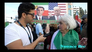 Interviewing Persians At Iran Protest In Los Angeles