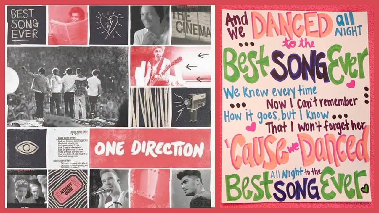 One Direction Song Lyric Drawings One Direction Best Song Ever