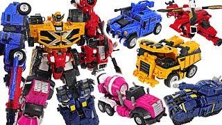 Miniforce X Penta X Bot 5 combine! Commando Pentatron!! Defeat giant dinosaur! #DuDuPopTOY