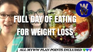 FULL DAY OF EATING - HOW I LOST 70 POUNDS ON WEIGHT WATCHERS - EASY TACO BOWL ????