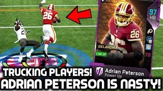 ADRIAN PETERSON RUNS PLAYERS OVER! CRAZIEST GAME YOU'LL SEE! Madden 19 Ultimate Team
