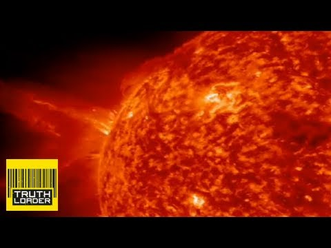 The sun explodes out solar mass ejection - Truthloader