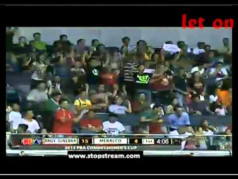 Ginebra vs Meralco Voltz Replay March 22. 2013 1st Quarter