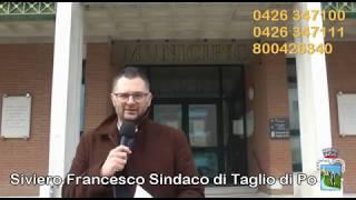 Sindaco di Taglio di Po Francesco Siviero sulle nuove misure restrittive