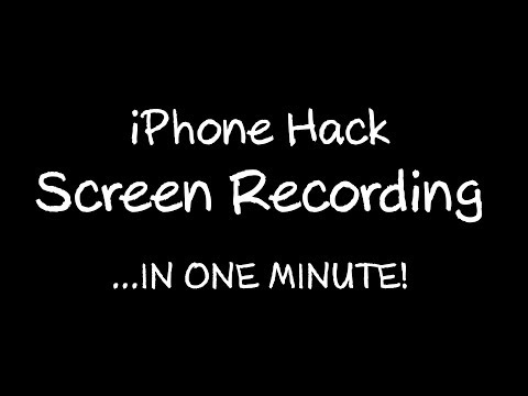 IPHONE HACK SCREEN RECORDING TUTORIAL - learn how to record your screen in under one minute!
