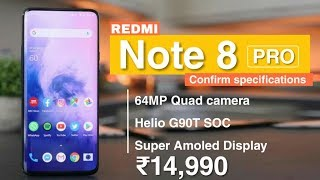 Redmi Note 8 pro : Confirm specifications,64mp camera Helio G90t,release date,price,redmi Note 8 pro