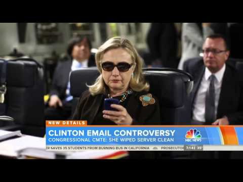 NBC: Clinton Wiped Email Server