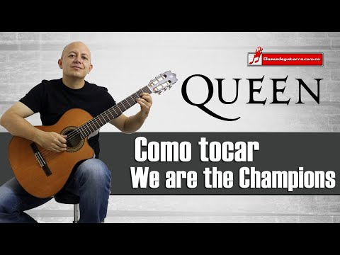 Como Tocar We Are The Champions De Queen Tutorial Para Guitarra