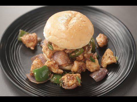 Chilli Chicken Burger | Sanjeev Kapoor Khazana
