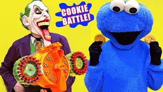 Nerf Blaster vs Cookie Blasting - WHO WILL WIN!