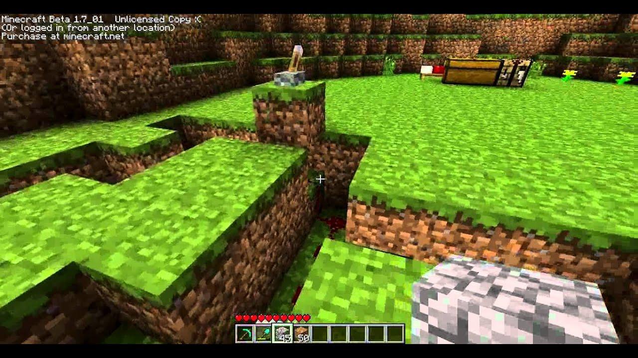 Piston Door 3x2 Minecraft Secret Pistons Door