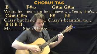 Beautiful Crazy (Luke Combs) Guitar Lesson Chord Chart in B with Chords/Lyrics