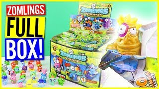 Zomlings Series 6 In The Future FULL BOX Opening! Limited Edition Gold & Ultra Rare Silver!