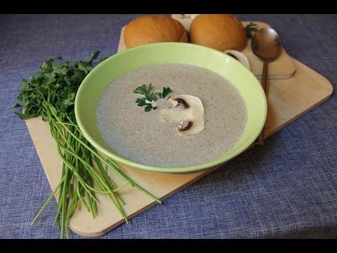 Крем-суп из шампиньонов. Сливочный суп-пюре