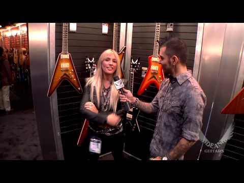 Dean Guitars Artist Laura Wilde Interview at NAMM 2013.