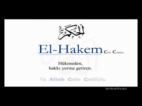 ESMÂÛL HÜSNA ve Anlamları ALLAH'ın İsimleri
