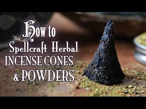 How To Make & Spellcraft Herbal Incense Cones & Powders. DIY. ~The White Witch Parlour