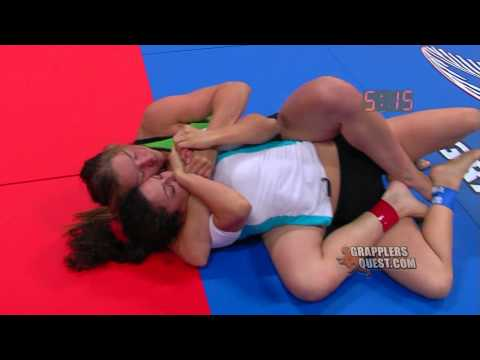 SUBMISSION! Amanda Leve vs Maria Magana at Grapplers Quest UFC Las Vegas 2012