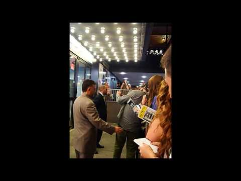 Jake Gyllenhaal greets fans after His Broadway show