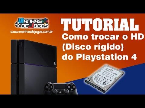 Como trocar o HD( Disco rídigo ) do Playstation 4