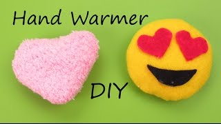 DIY: Hand Warmer Emoji/Heart Plush How to Tutorial Holiday/Christmas Gift Idea