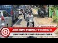 Gaya Jokowi Naik Chopper Emas, Touring Motor di Pelabuhan Ratu