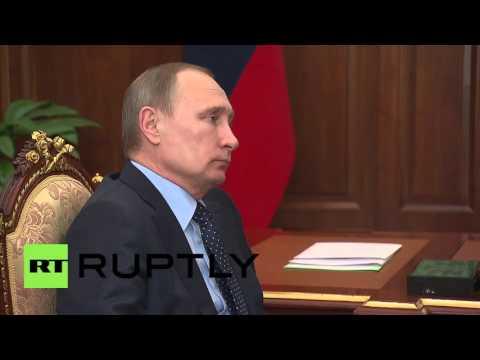 Russia: Crimean PM Aksenov and Putin discuss Kerch Strait bridge