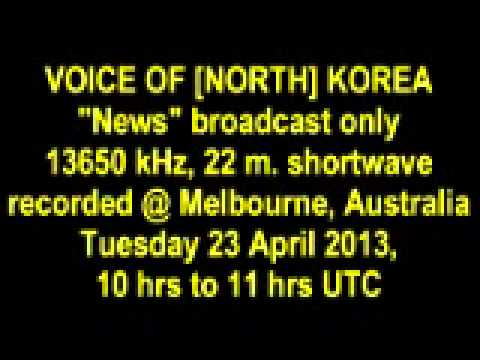 VOICE OF [NORTH] KOREA Tuesday 23 April 2013 news only