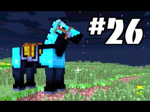 MINECRAFT: HORSES! How To Find, Tame, and Ride Horses in Minecraft - Let's Play #26