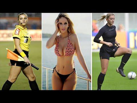 Beautiful Fernanda Colombo Uliana turns heads as assistant referee in Brazil Cup match