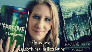 Film Vs Livre : Le labyrinthe / The Maze Runner