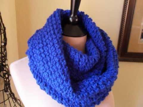 Crochet Infinity Scarf Tutorial For Beginners : Crochet Infinity Scarf Easy - YouTube