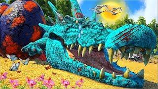 Á HISTÓRIA DO BEBÊ PELAGE CROCODILO   O PÂNTANO PERIGOSO ! Ark Animals Evolved Dinossauro