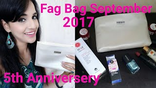 Fab Bag September 2017   5th Anniversary   The Object of Desire   Unboxing & Review   Giveaway Open