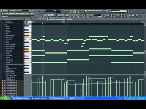 Tutorial How to make a RnB Piano Beat [FL Studio 9] Part 2 Piano Melody FLP DOWNLOAD