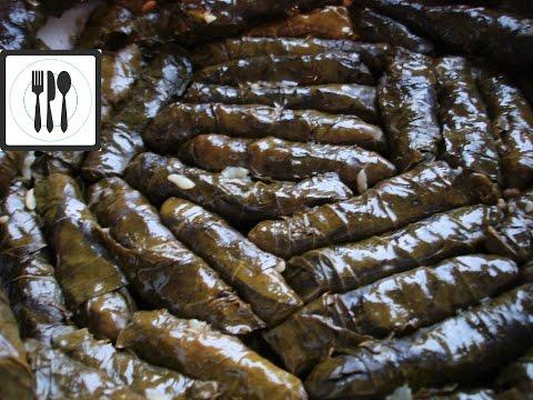 Сарма Долма из виноградных листьев с рисом. Без мяса по-турецки/Япрак сарма/Видео Рецепт